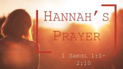 1 Sam 1 Hannahs Prayer